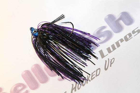 Sapphire Blue Flipping Jig with 2 chunk baits