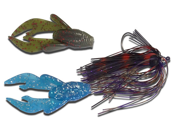 Purple Flipping Jig 1 per pkt with 2 chunk baits