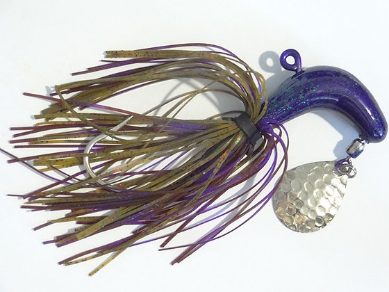 6/0 Spinner Purple Jelly Jig - 1 per pkt
