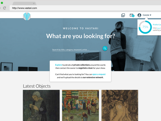 Vastari // Art Finder Site Redesign