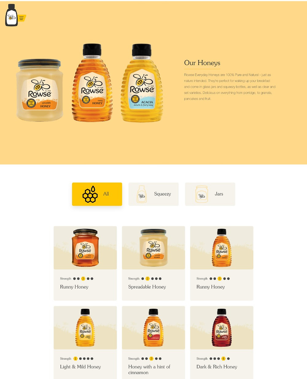 Rowse Honey product finder