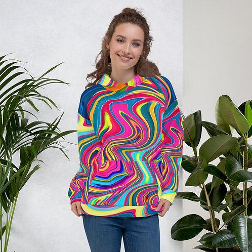 Neon Hippie Swirl Unisex Hoodie