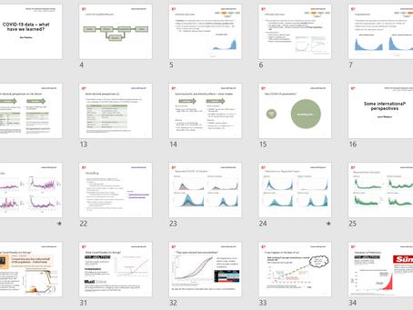 "IAA Webinar - ""What have we learned?"""