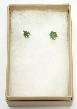 Simple small nugget studs (forest green)