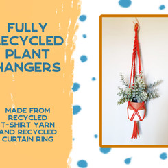 Fully recycled plant hangers
