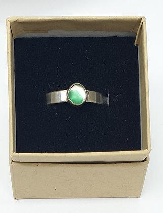 Multi green seaglass ring (Q)