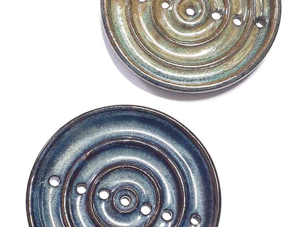 Wheel thrown soap dish