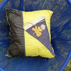 Waterproof, ethical and snazzy - a cushion with a differnce!