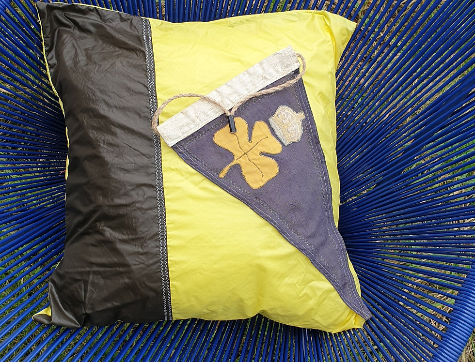 Upcycled spinnaker cushion cover
