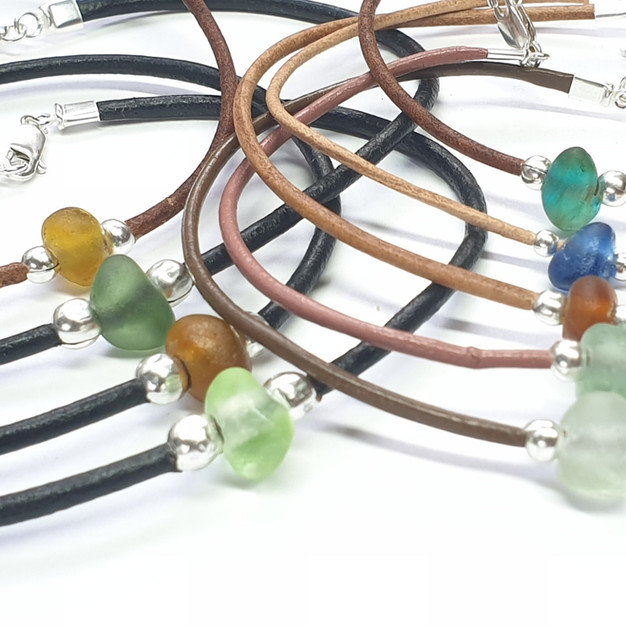 Seaglass anklets