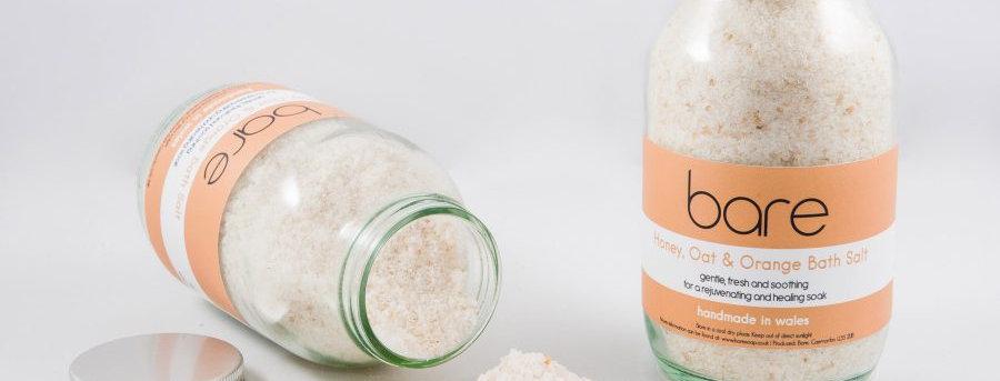 Honey, Oat and Orange Natural Bath Salt