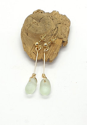 14k gold Twisted nugget dangles