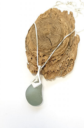 Smokey grey pendant and chain