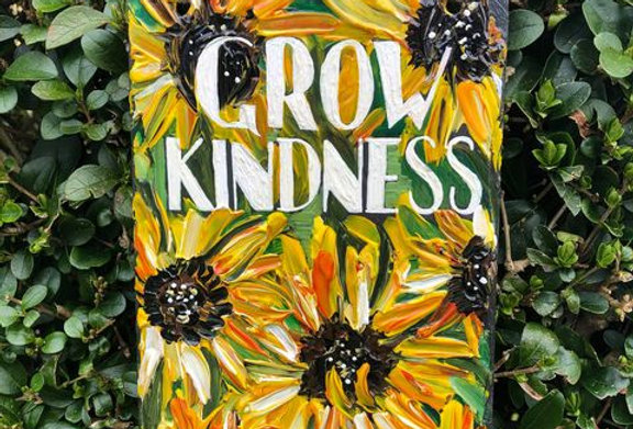Grow Kindness Reclaimed Slate Sign