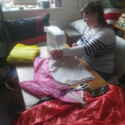 Turning old spinnakers into ethical, upcycled cushions