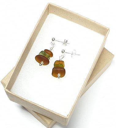 Mini stacked earrings - studs