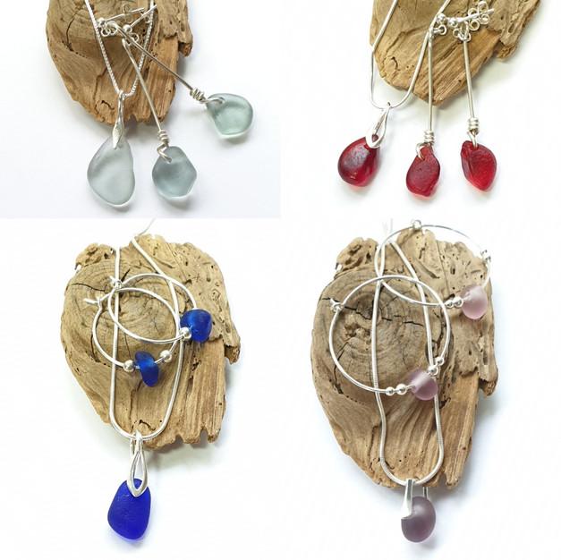 Seaglass jewellery sets