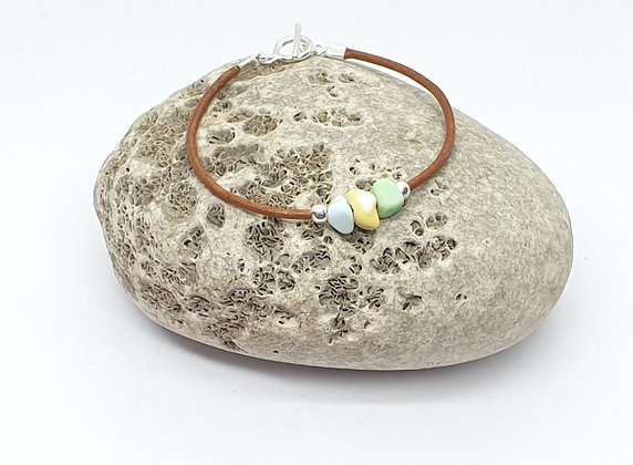 Single wrap leather bracelet (Medium)