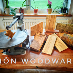 Môn Mam Cymru - worked in sustainable offcuts of bamboo and hardwood
