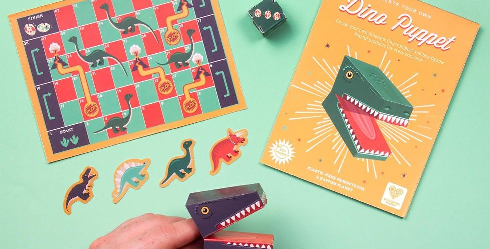 Create your own dino finger puppet