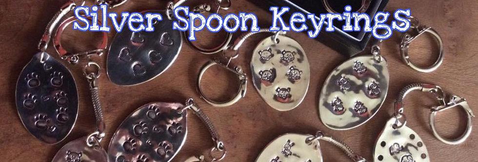 Antique or Vintage Silver Spoon Keyring