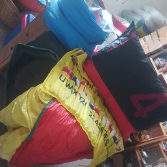 Upcycled spinnakers make the ideal outdoor cushions and seat pads