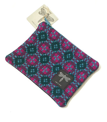 Recycled vintage Welsh tapestry clutch bag