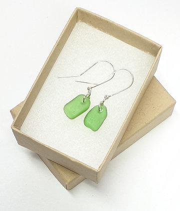 Bright green earrings
