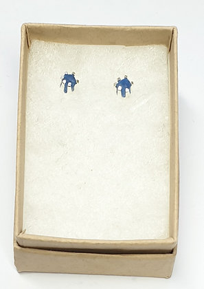 Simple small nugget studs (cornflower blue)