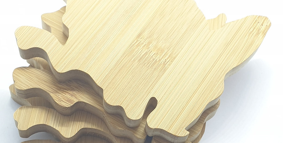Bamboo, Anglesey outline coasters (set of 4)