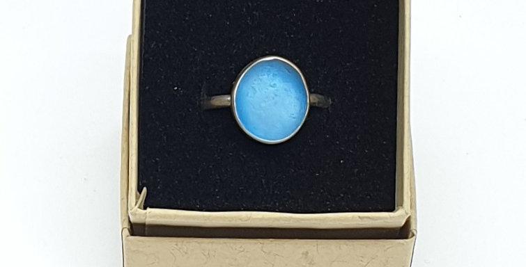 Sea Glass and Beach Rubbish Ring (size P 1/2)