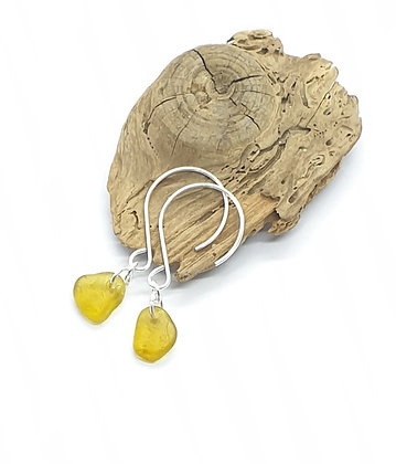 Honey yellow dangle earrings