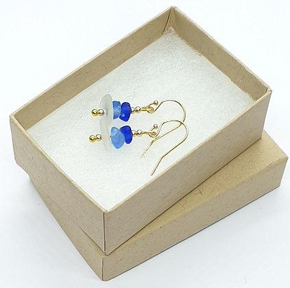 Mini stacked earrings - 14k gold