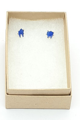 Simple small nugget studs (bright blue)