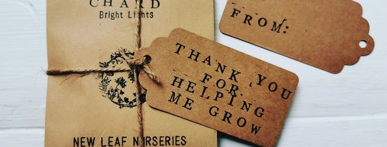 Thank You For Helping Me Grow - seed collection