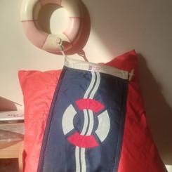 Upcycled spinnaker cushion