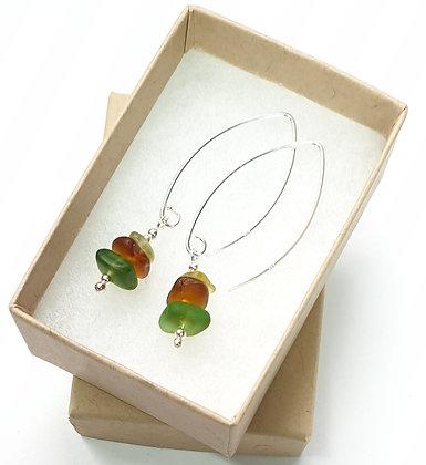 Mini stacked earrings