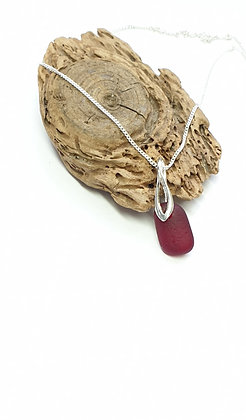 Deep red pendant