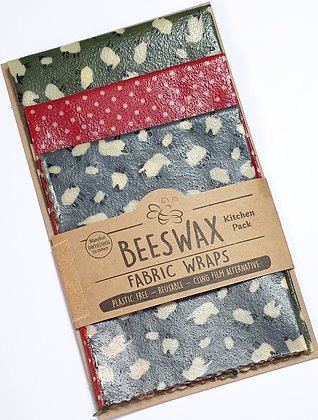 Beeswax Wraps - 3 Kitchen Pack  (sheep/spots)