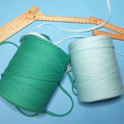 Yarn made by salvaged and remnant textiles