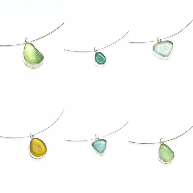 Sterling silver bezel pendants