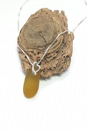 Deep yellow pendant and chain