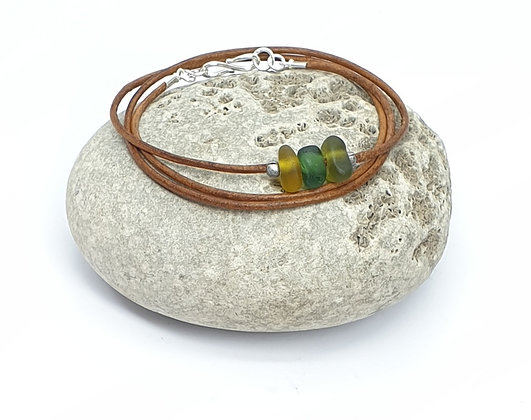 MEN'S Triple wrap leather bracelet (61cm/L)