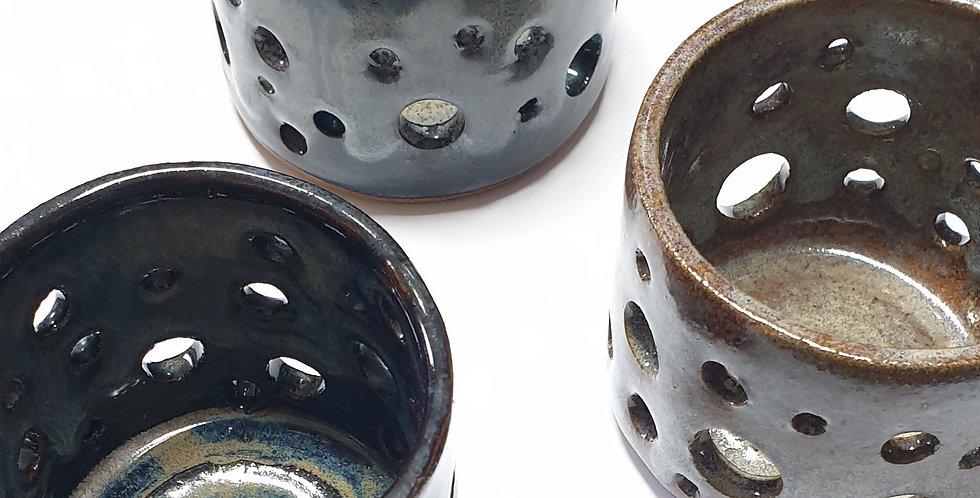 Wheel-thrown Tea Light Holder