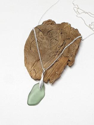 Seafoam green pendant and chain