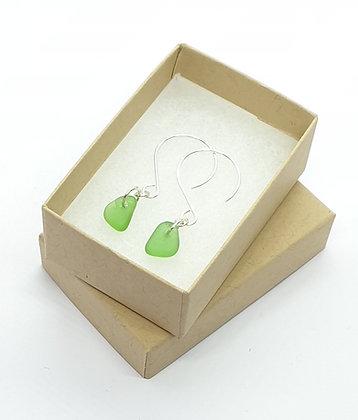 Bright green dangle earrings