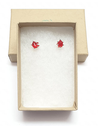 Simple small nugget studs (rare red)