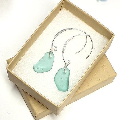 Turquoise loop-through earrings