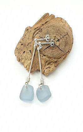 Simple twisted nugget stud dangles