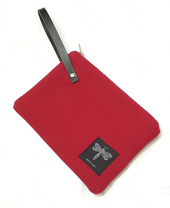 Recycled wool clutch bag